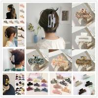 Rectangle Acrylic Marble Print Acetate Hair Clip Large Hair Claws Fashion Women