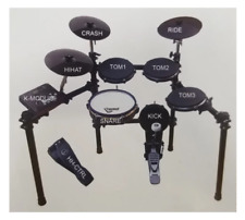 NEW 8 Piece Electronic DIGITAL DRUM SET Kit with STAND + Quiet Mesh Rubber Heads