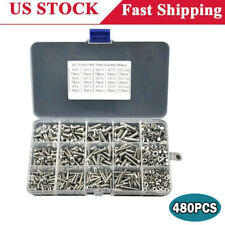 480x Stainless Steel Hex Socket Head Cap Screws Nut Kit Assorted Set M2-M4 Size