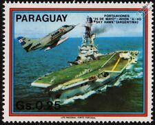 ARA Veinticinco de Mayo (V-2) portaaviones nave de guerra y A-4Q Skyhawk Sello