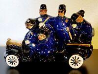 Ezra Brooks Police Car Liquor Decanter 24K Gold Bobby Keystone Cops Heritage '71