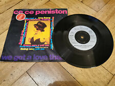 """ce ne peniston we got a love thang 7"""" vinyl record very good condition"""