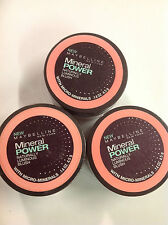 3 X Maybelline Mineral Power Naturally Luminous Blush (ORIGINAL ROSE) NEW.