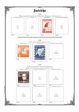 PAGES D'ALBUM COMPLET - AUTRICHE - AUSTRIA -1850-->1959