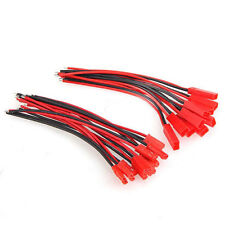 100mm 10 Pairs JST Connector Plug Cable Line Male+Female for RC BEC Lipo Battery