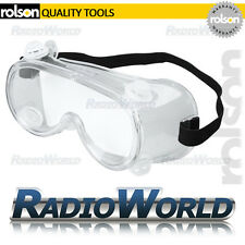 Rolson General Purpose Vented Safety Goggles Car Garage Grinding Cutting DIY