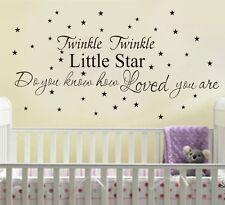 Wall Quote Kid Nursery Decor Vinyl Decal Sticker * Twinkle Twinkle Little Star *