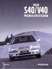 Volvo S40 & V40 Specification 2000-01 UK Market Brochure S SE Sport