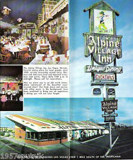 Alpine Village Inn closed Las Vegas Restaurant Brochure Advertising Flyer 1960's