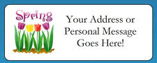 60 Personalized Spring Tulips Flowers Return Address Labels