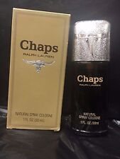 CHAPS Cologne Spray 1.0 oz / 30 ml by RALPH LAUREN - 100% AUTHENTIC - RARE