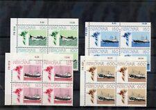 Faroe Is Sc 24-7(Mi 24-7)*Vf Nh 1977 Ship Set, Plate Block Set $150
