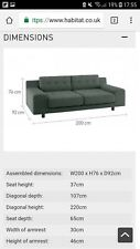Hendricks Sofa 3 seater (Italian Woven Grey)