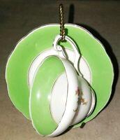 Vintage Floral English Bone China Tea Cup and Saucer, Foley China