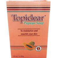 Topiclear Papaya Soap Skin Moisturizer Jabon de Barra Hidratante Humectante Piel