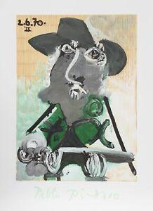 Pablo Picasso, Portrait d'Homme au Chapeau, Lithograph