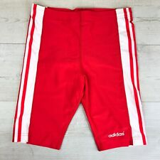 "Adidas Vintage 1980-90's Spandex Lycra Cycling Shiny Shorts, Sz 28"" inch waist"