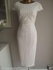 MONSOON LACE IVORY BRIDAL SHIFT PENCIL WIGGLE DRESS SUMMER BEACH WEDDING 18-20