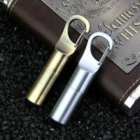 Portable Metal Lighter Cigar Cigarette Waterproof Keychain Hiking Gas Lighters