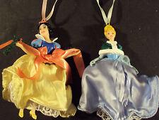 HTF Lot of 2 Disney Princess Holiday Ornaments Snow White #100 - Cinderella #102