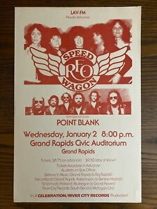 REO SPEEDWAGON / POINT BLANK poster 1981 Grand Rapids Michigan concert Original