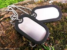 BCB MILITARY ARMY DOG TAGS COMPLETE WITH SILENCERS & 30CM CHAIN BUSHCRAFT