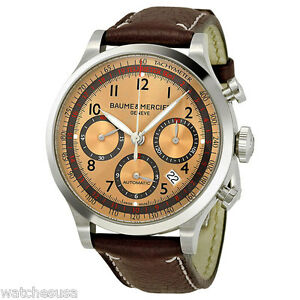 Baume & Mercier Capeland Chrono Men's Rose Gold-Tone Dial Watch Model M0A10004