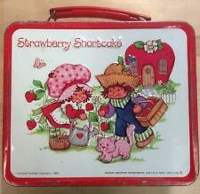 VIntage 1980 Stawberry Shortcake Metal Lunch Box Aladdin Preowned