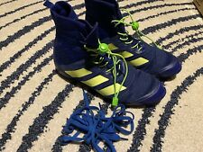 Adidas Speedex 18 Boxing Boots UK 8/ BLUE IMMACULATE Boxing Shoes Trainers
