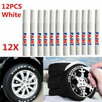 12x White Waterproof Permanent Car Tyre Tire Tread Set Marker Pen Paint O9T5