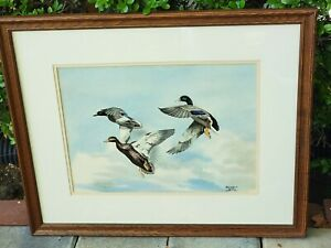 Bruce Lattig Original Watercolor Painting On Canvas Title Unknown Private Work