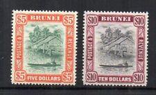 Brunei 1948 $5 and $10 MVLH