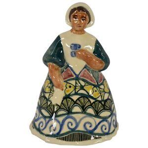 Shearwater Pottery 2017 Godey Lady Nautical Fish Shell Dress Figurine