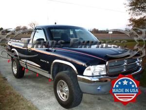 "fit:1987-1996 Dodge Dakota Regular Cab Short Bed Rocker Panel Trim Cover 5"" 10Pc"