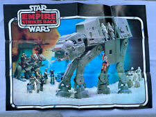Vintage Star Wars ESB (1980) Palitoy 2-sided Poster Featuring At-At on front