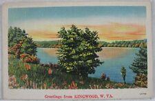 1930's Vintage Postcard Greetings From Kingwood, WV