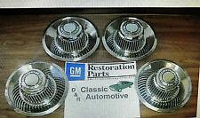 3DAY SALE 4 New Rally Wheel Center Derby Caps GM Resto Camaro Chevelle ElCamino