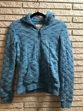 Womens Juniors Blue Aeropostale Hoodie Zip Up Jacket Size Medium