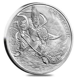 2017 South Korea ZI:SIN Gallus 1 oz 0.999 Silver Medal BU In Mint Capsule