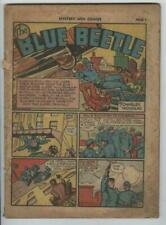 Mystery Men Comics #21 April 1941 Blue Beetle Rare Complete Coverless