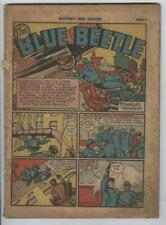 Mystery Men Comics #21 April 1941 Blue Beetle Rare Complete Coverless