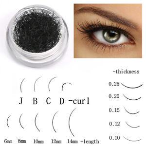 Black False Eyelash Individual Lashes Strand Synthetic Extension Eye Makeup Tool