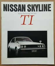 1980 Nissan Skyline TI. Touring International 1600-1800 original sales brochure