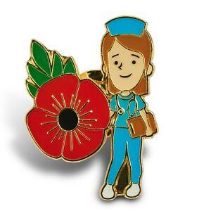 Flower Pin badge, Nurse, Doctor, NHS, Staff,