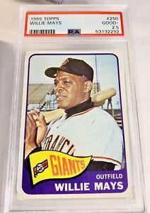 1965 Topps Willie Mays PSA 2.5 GOOD #250 Giants RARE 🔥 PSA 2.5!!
