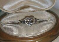 Kay Jewelers Jane Seymour Open Heart-clr/black-diamond sterling silver Ring $179