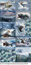 Call of the Wild Digital Panel cotton quilt fabric Hoffman 88x44 Breeze Animals