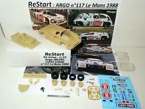 ARGO JM19C n117 Le Mans 88 SCHANCHE DONOVAN LUCKY STRIKE Kit Résine ReStart 1/43