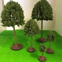 Mid Green Tall Deciduous Trees - Plastic crafted Model Scenery Railway Wargames