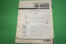 Originale Service Anleitung und Schaltplan Yamaha AV-M99 Stereo AV Amplifier!!